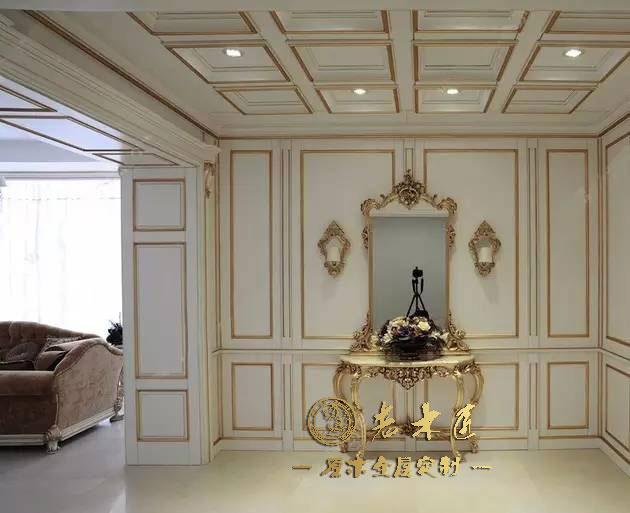 固装类:实木护墙板,衣帽间,橱柜,酒柜,书柜,木门,楼梯等全原木高端图片