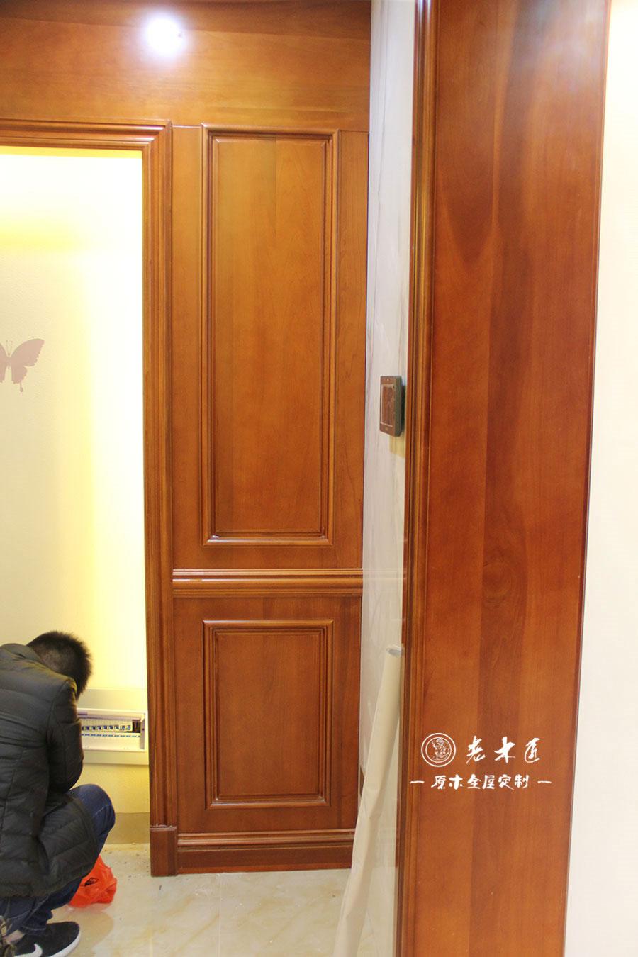 原木客厅背景墙图片