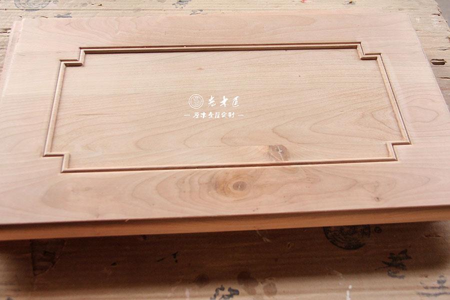 走进老木匠雕刻车间第34期:老木匠原木整板雕刻工艺 价值量更高
