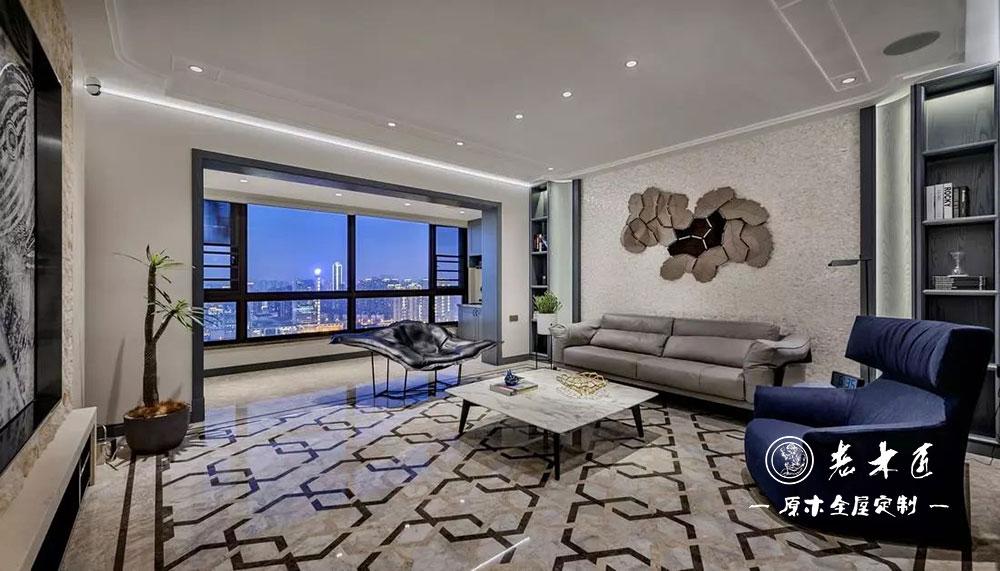 210平方米现代风格轻奢原木装修定制,打造怦然心动的舒适家居.
