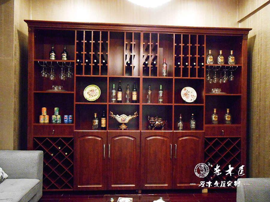 家居酒柜装修效果图 实木酒柜