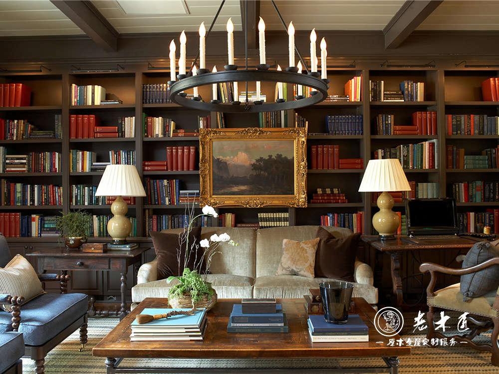 书房书柜 书房书柜装修效果图 漳州老木匠