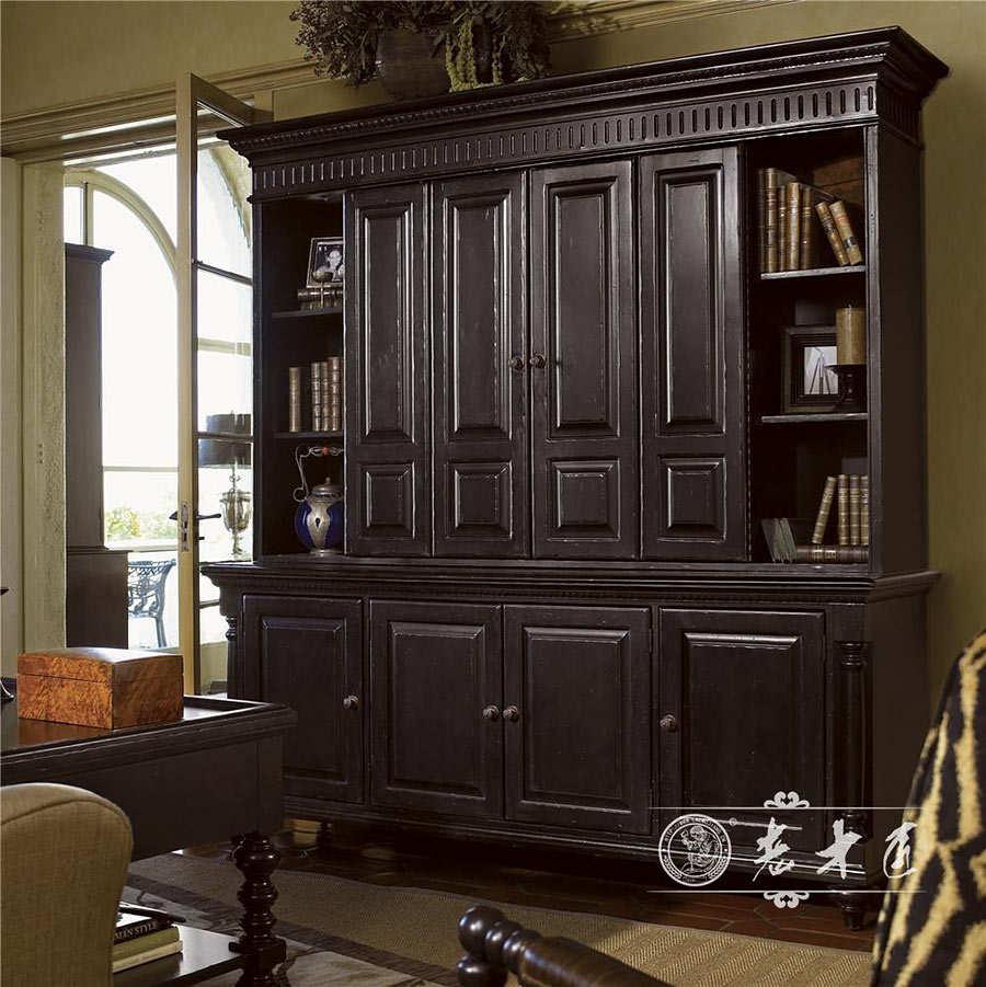 老木匠原木书柜定制家具十大