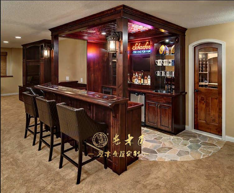 吧台酒柜一体效果图 -漳州老木匠