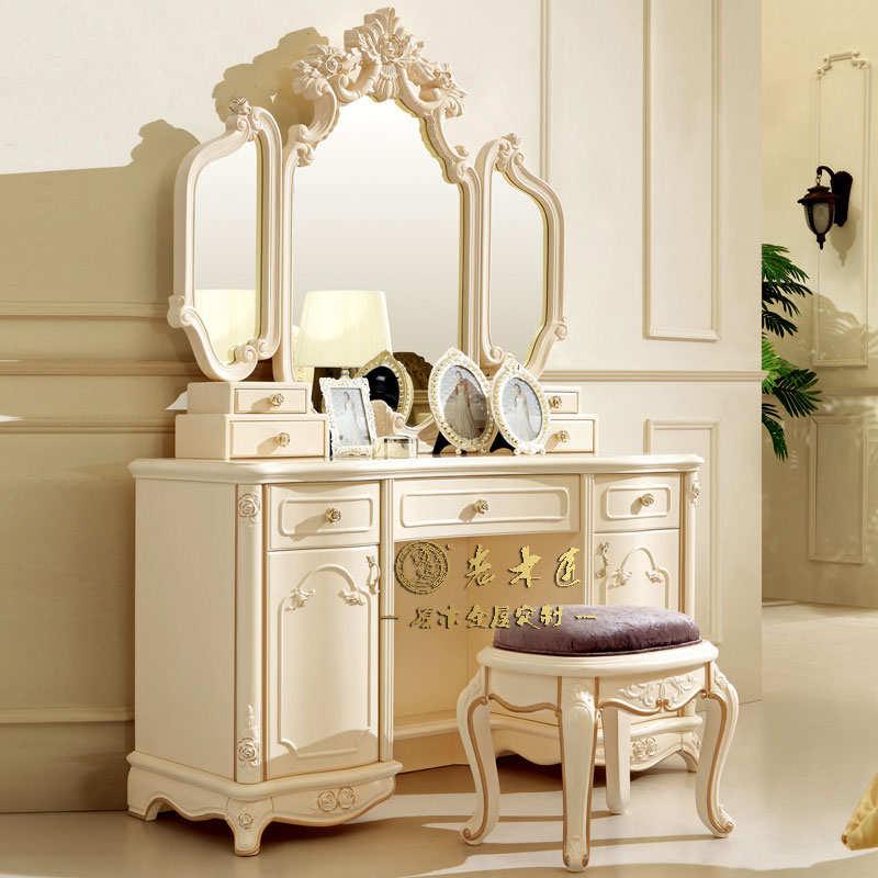 欧式实木梳妆台价格图片