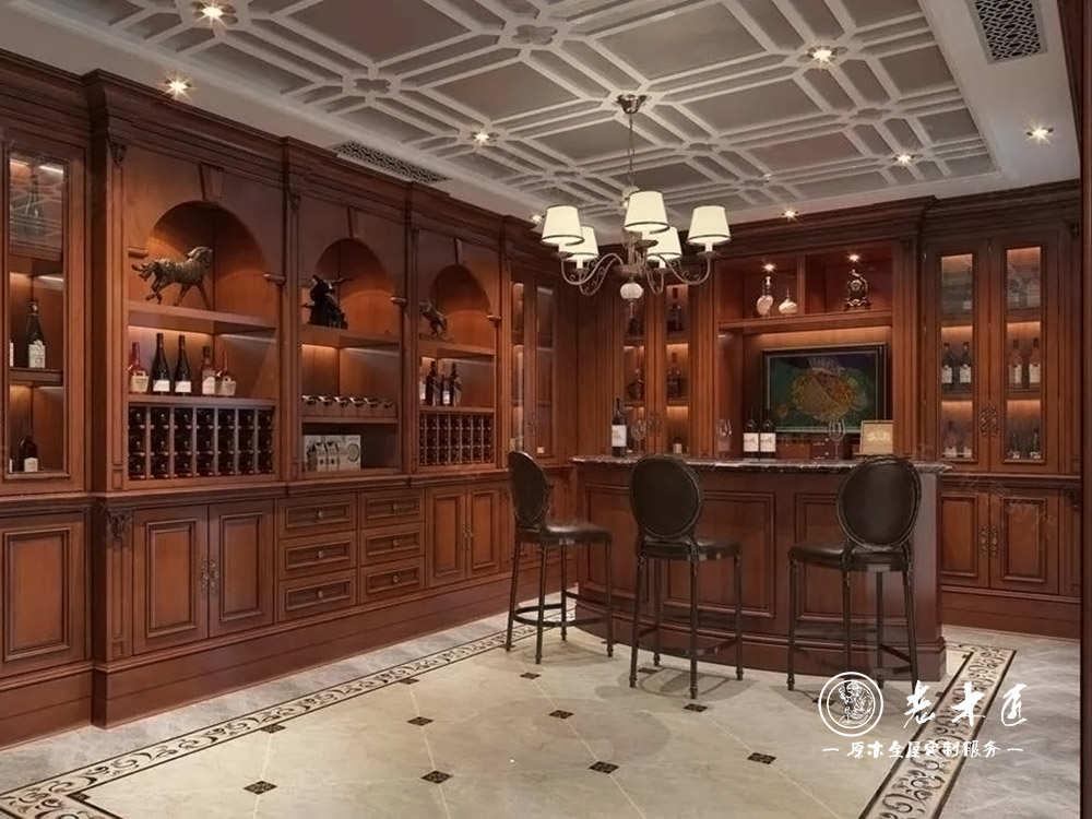 家庭吧台酒柜设计效果图