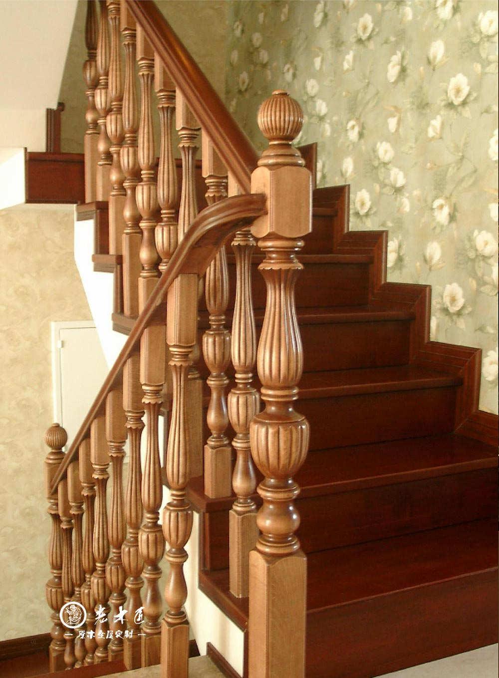 家用实木楼梯图片大全