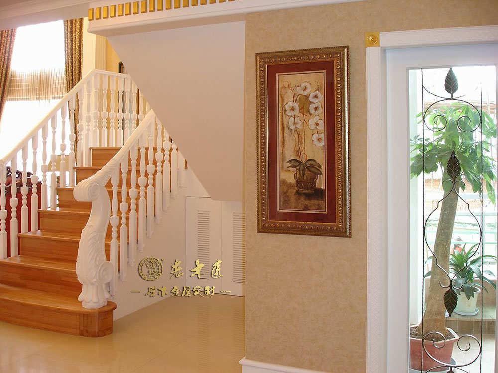 原木楼梯装修效果图 -漳州老木匠