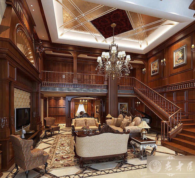 客厅实木背景墙设计效果图