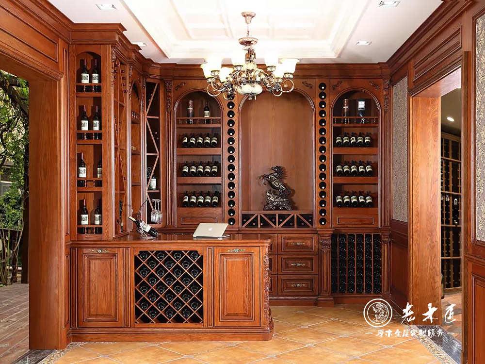 家装吧台实木酒柜装修效果图