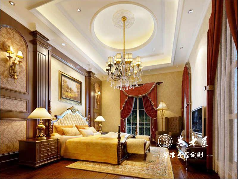 卧室床头背景墙装修效果图 -漳州老木匠