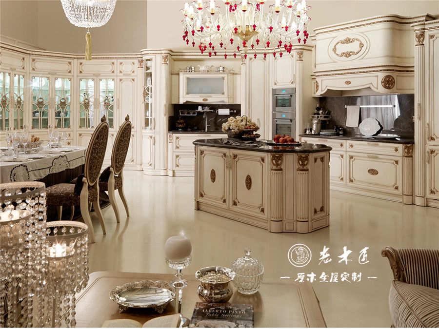 欧式奢华厨房整体橱柜定制案例