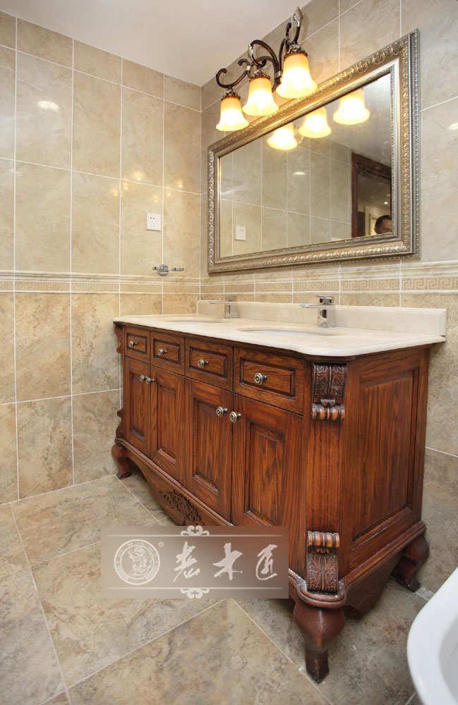 卫生间浴室柜定制,强势推荐-老木匠原木浴室柜,大品牌,实木浴室柜