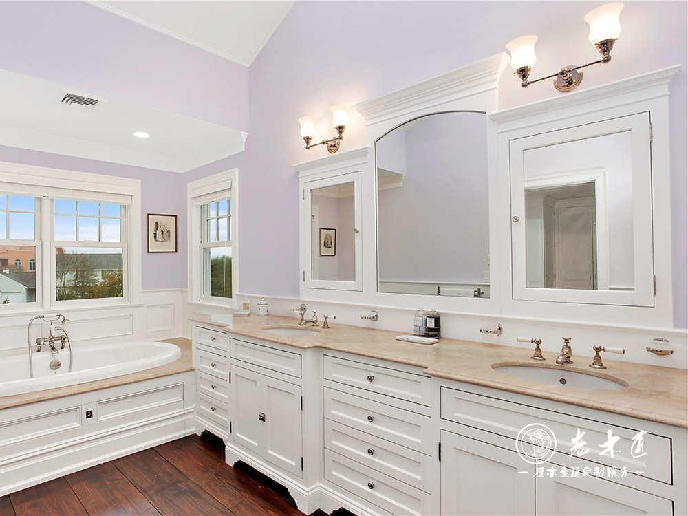 白色风格欧式卫生间浴室柜设计