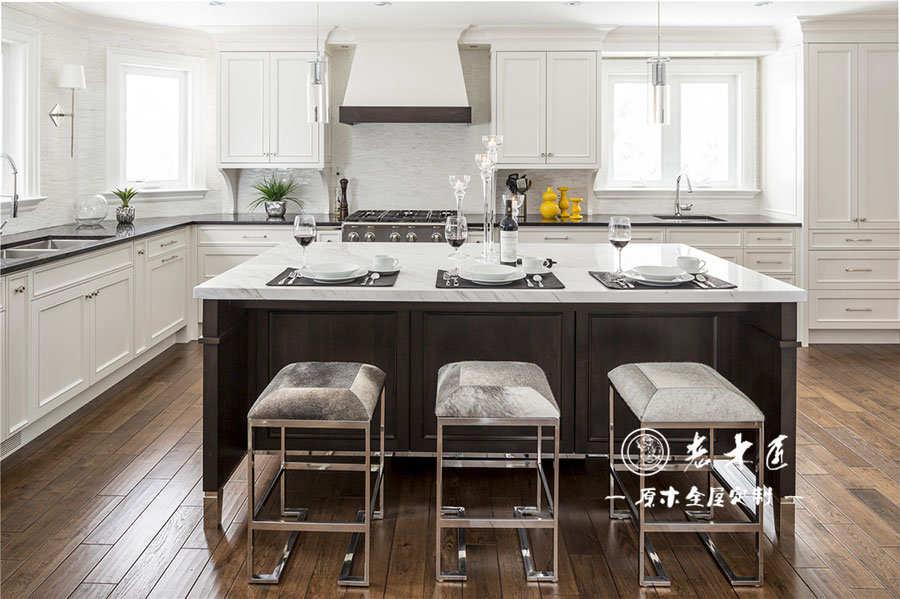 简欧白色风格厨房整体橱柜定制案例