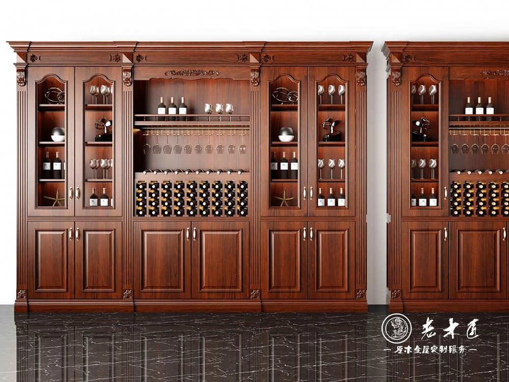 酒柜设计效果图 鞋柜带冰箱