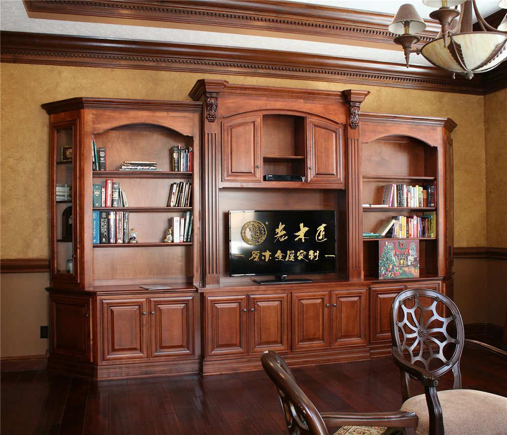 欧式实木电视柜装修效果图