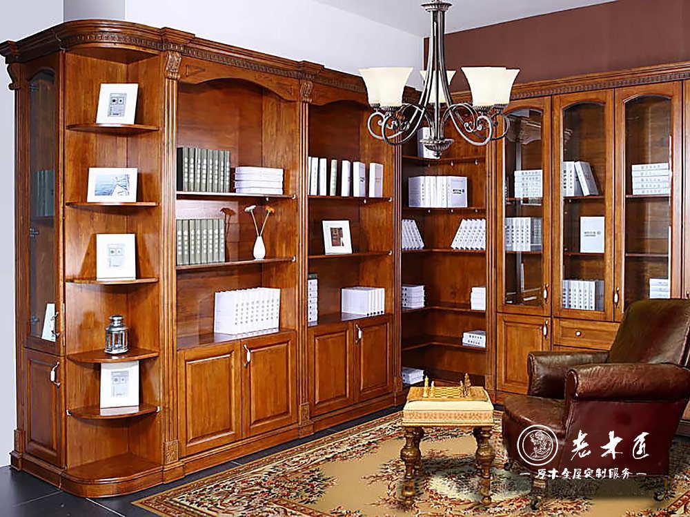 实木书柜图片 书房实木书柜定做图片图片
