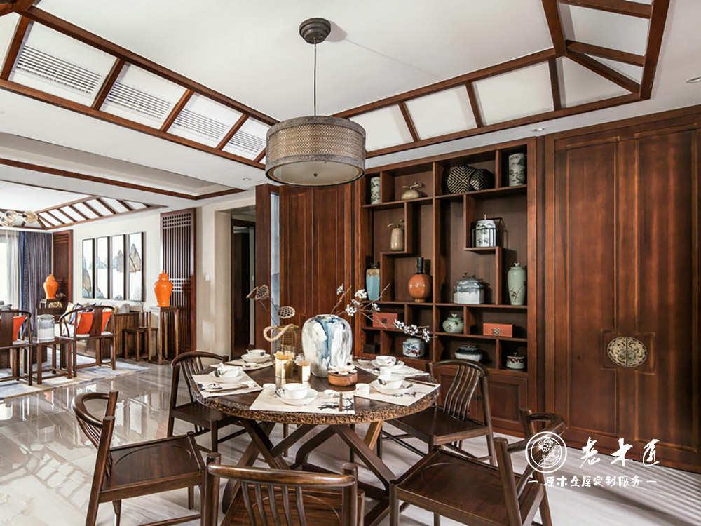 室内整体酒柜定做效果图 -漳州老木匠