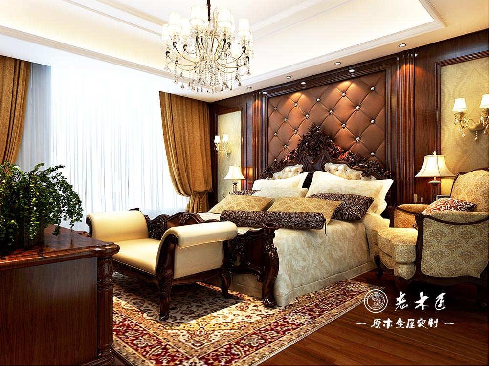 卧室实木背景墙装修效果图