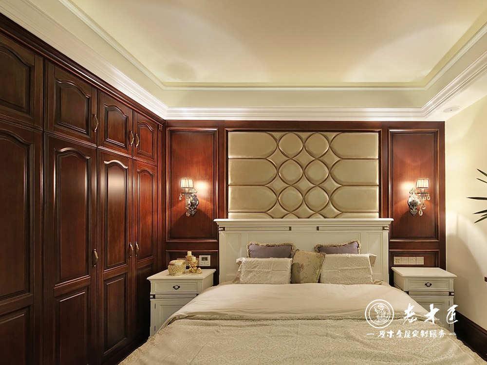 背景墙装修图片 卧室实木背景墙订制图片