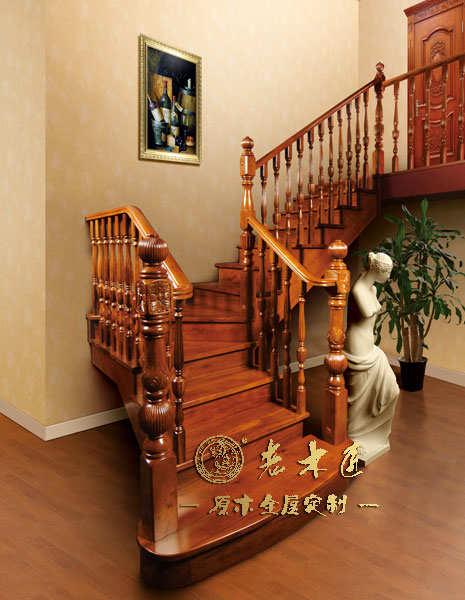 楼梯材料 欧式实木楼梯定制材料
