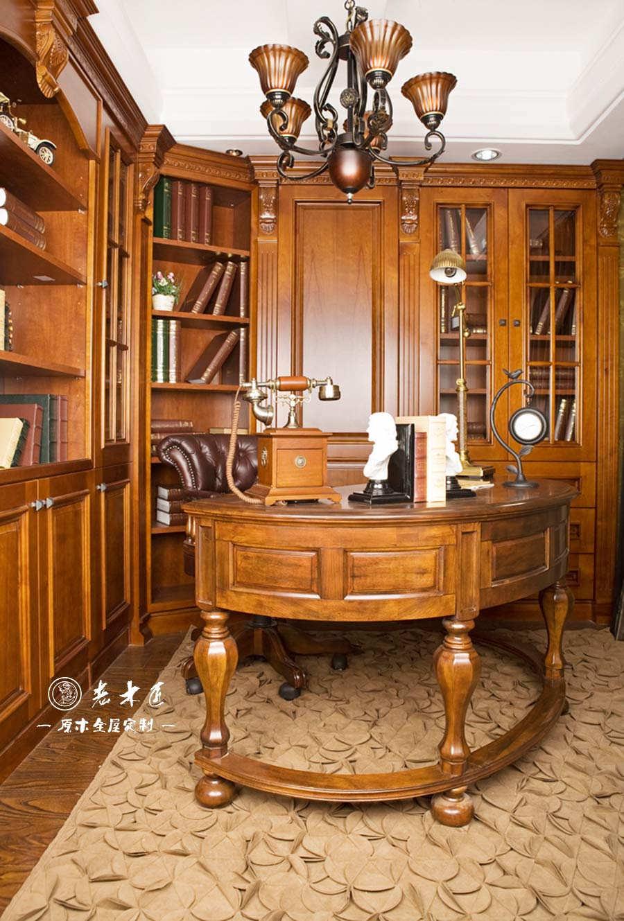 家庭实木书柜定制尺寸