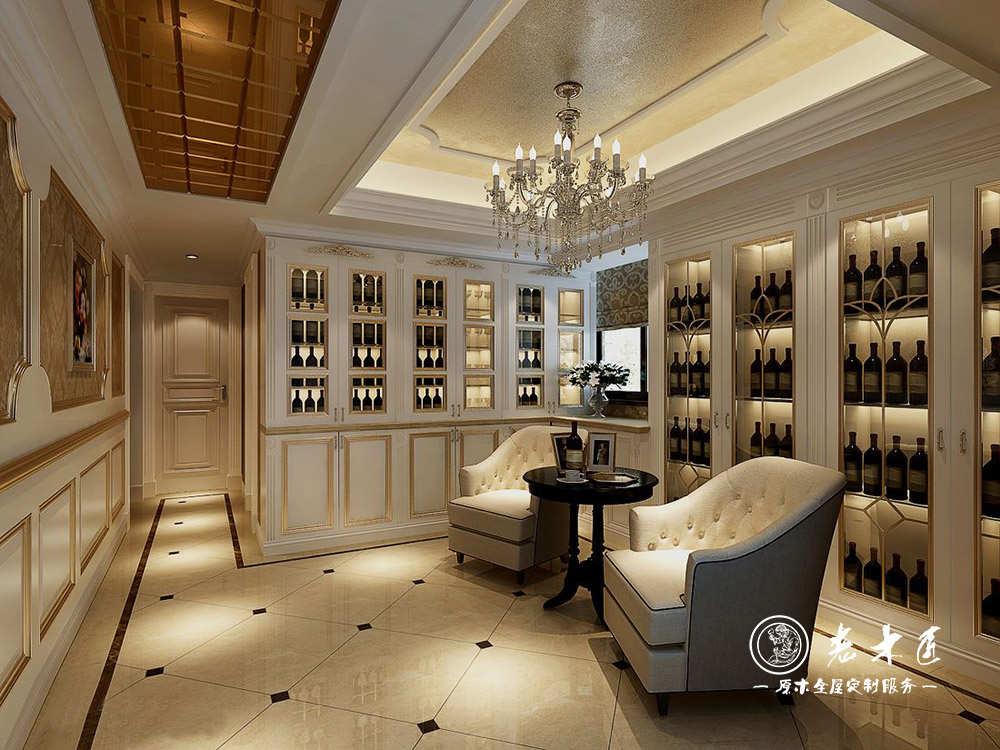 室内酒柜订制厂家老木匠专业家庭酒柜