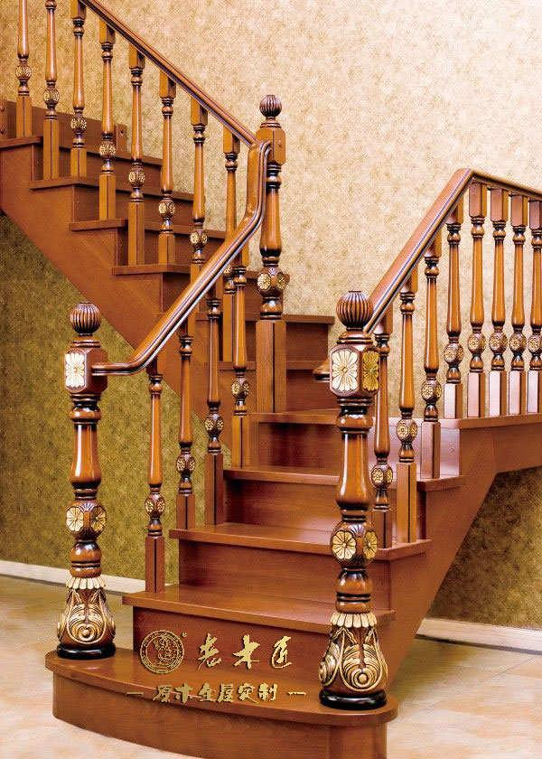 实木楼梯设计尺寸 室内实木实木楼梯定制尺寸