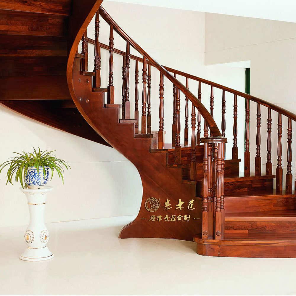室内实木楼梯定做效果图大全