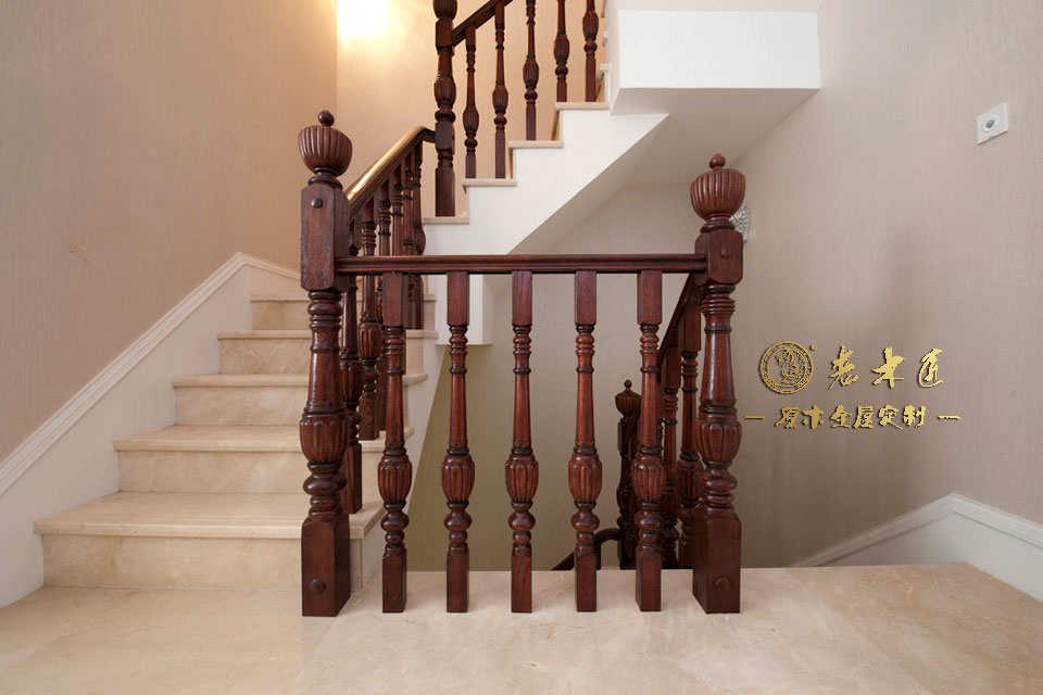 实木楼梯扶手厂家 室内实木楼梯定做厂家