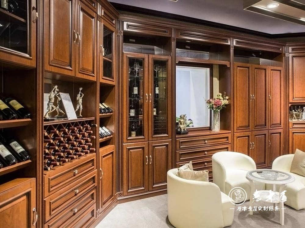 欧式酒柜定制尺寸 欧式酒柜设计尺寸