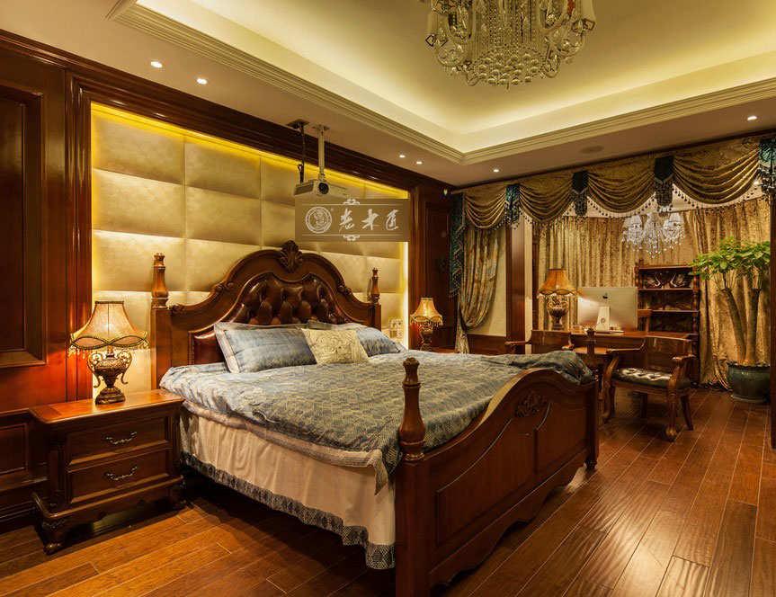 实木背景墙图片大全 卧室床头背景墙订制图片