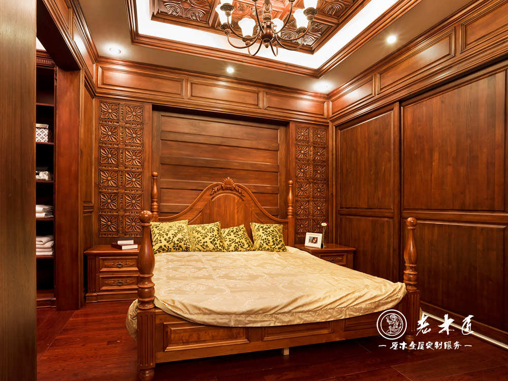 实木背景墙价格 卧室床头背景墙订制价格