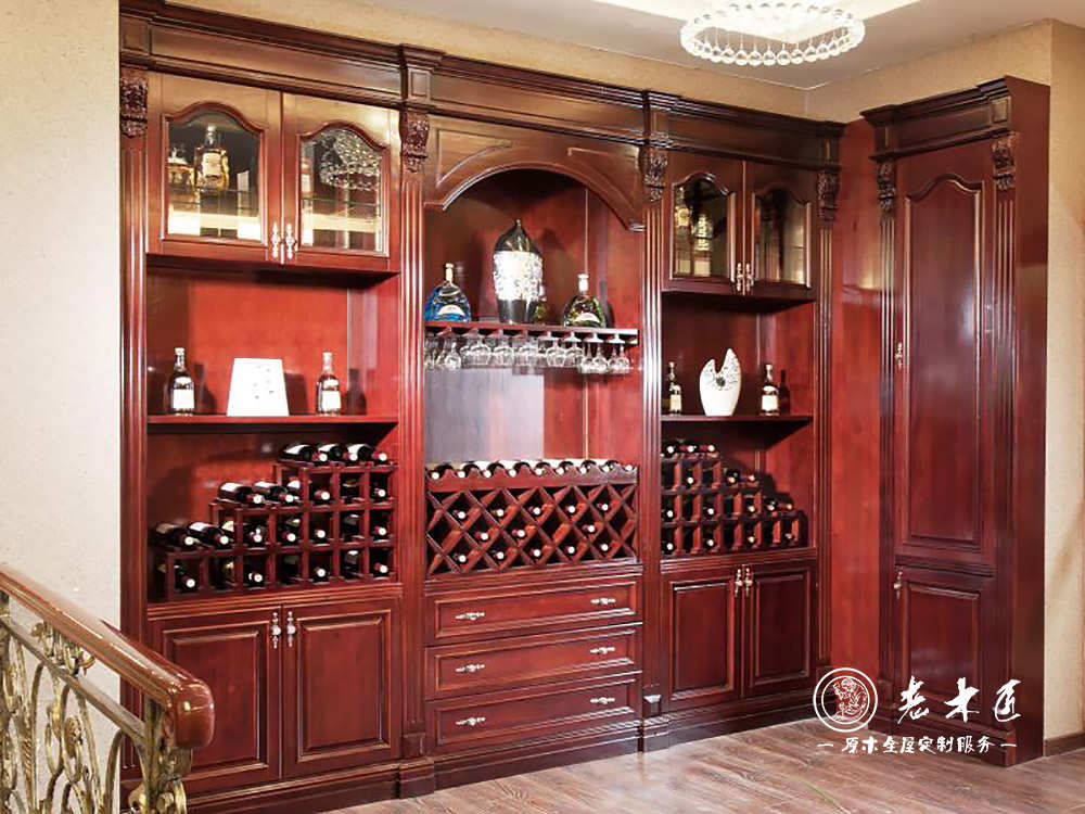 实木酒柜设计效果图大全