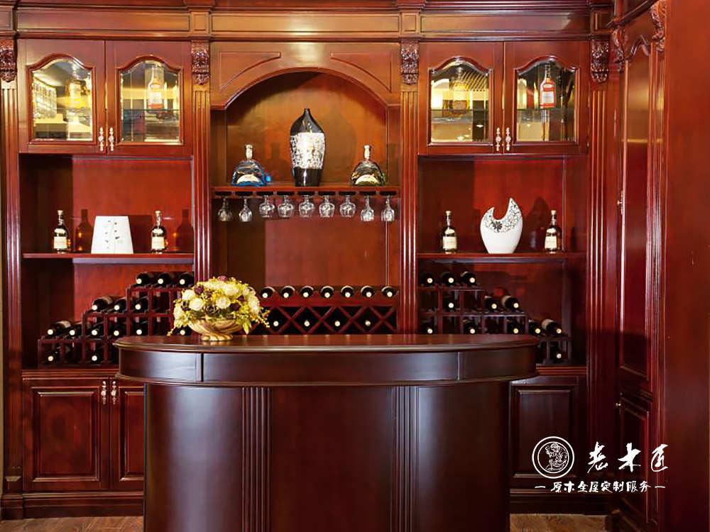 实木酒柜设计效果图大全 -漳州老木匠