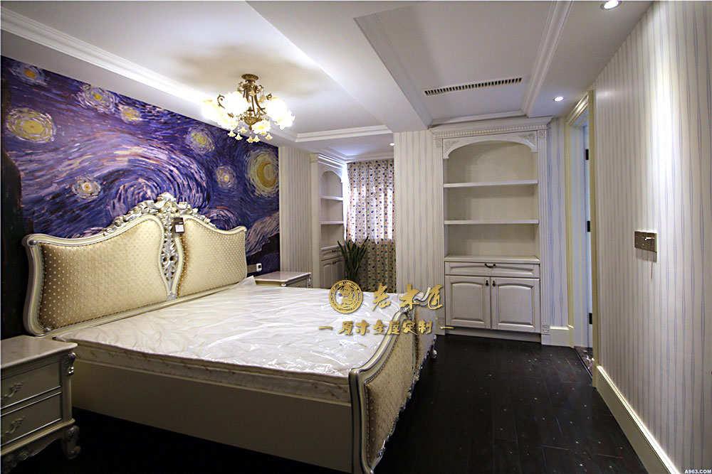 欧式卧室床头背景墙订制效果图大全