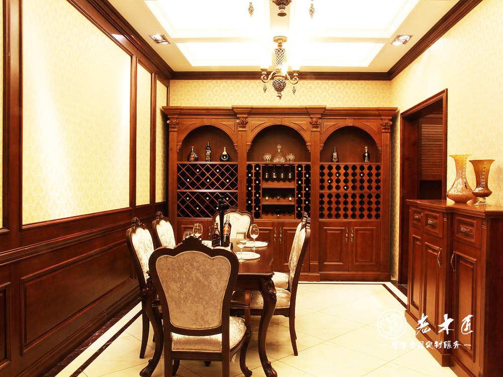欧式酒柜图片 餐厅实木酒柜图片