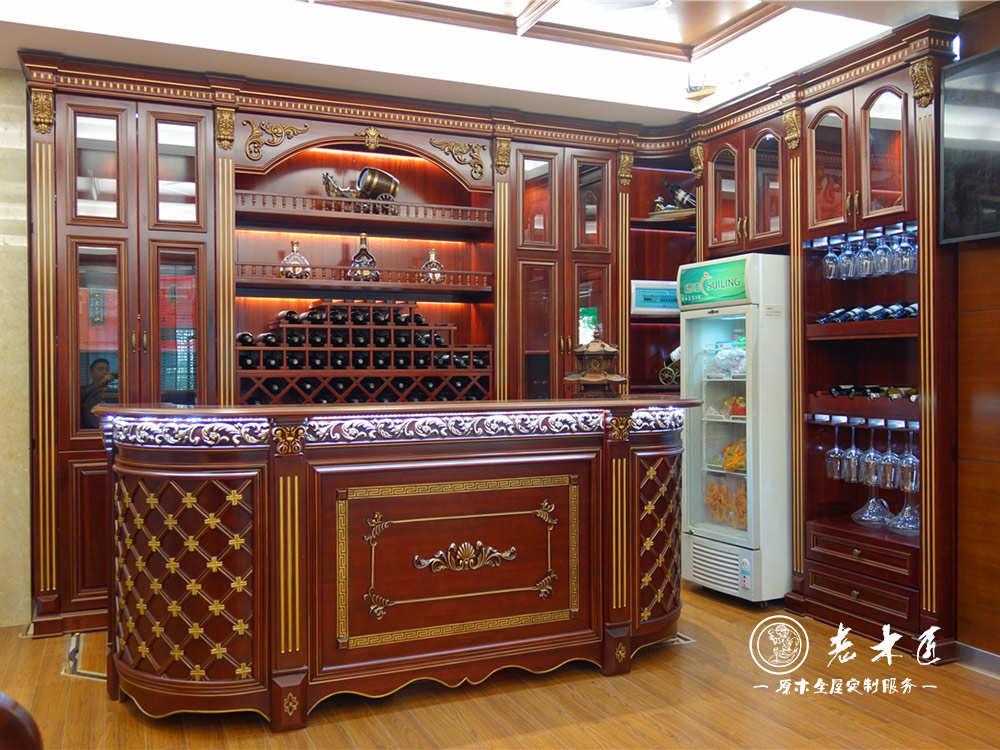 欧式酒柜尺寸标准是多少,老木匠欧式酒柜设计设计师上面量尺,以品质