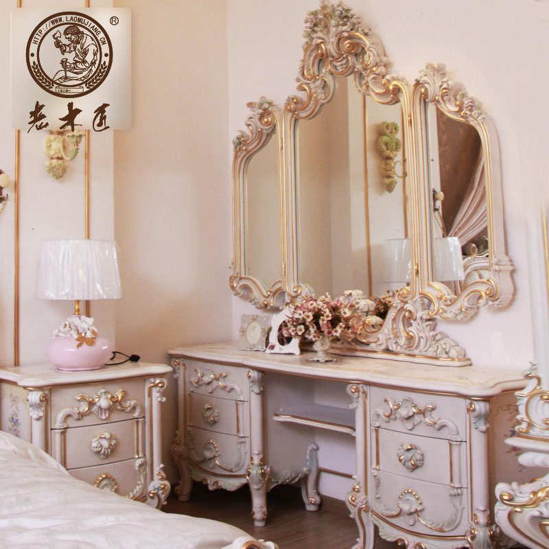 卧室梳妆台订制图片 欧式梳妆台图片
