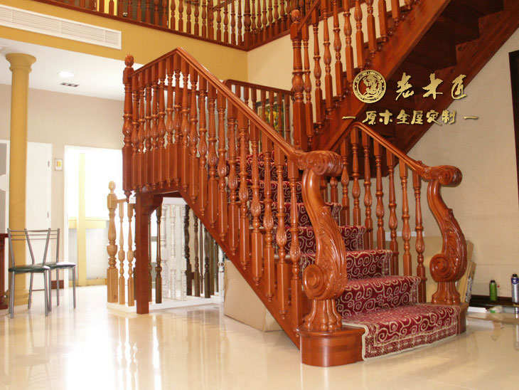 实木楼梯设计图 复式楼楼梯设计图