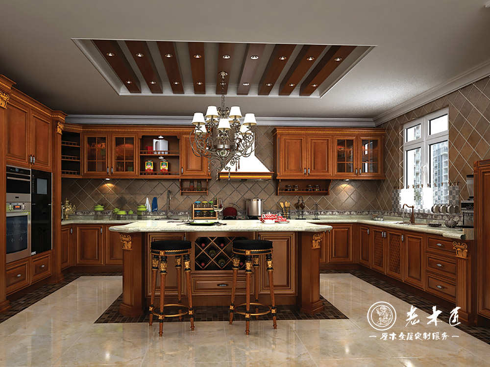 厨房橱柜定做首选老木匠,提供厨房橱柜设计效果图,老木匠全屋定制