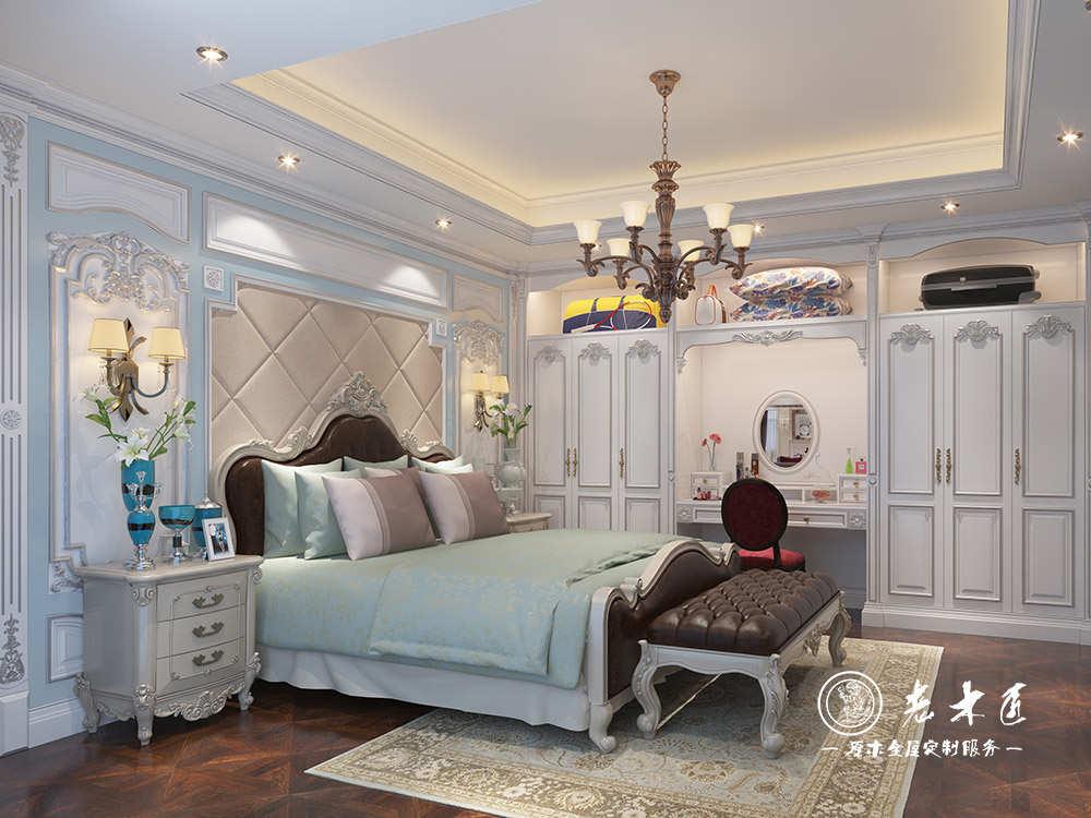 法式卧室整木家装效果图