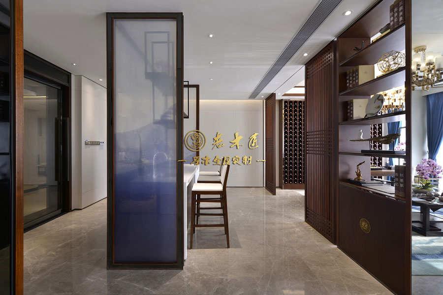 联投东方华府公寓样板房新中式原木定制
