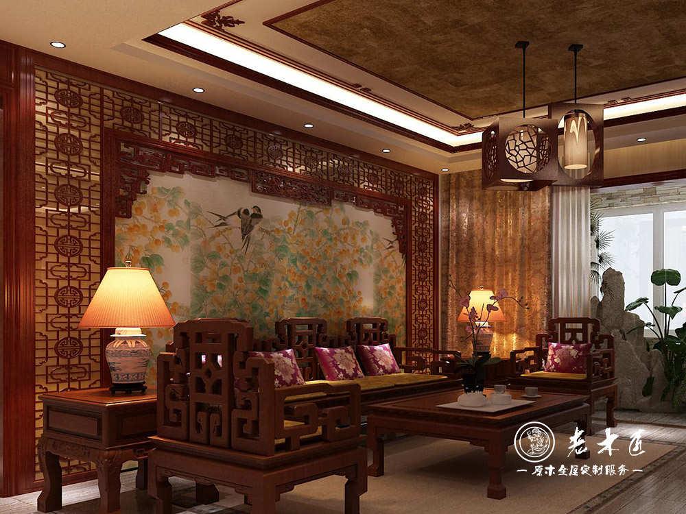 实木背景墙图片大全 客厅沙发背景墙图片 -漳州老木匠