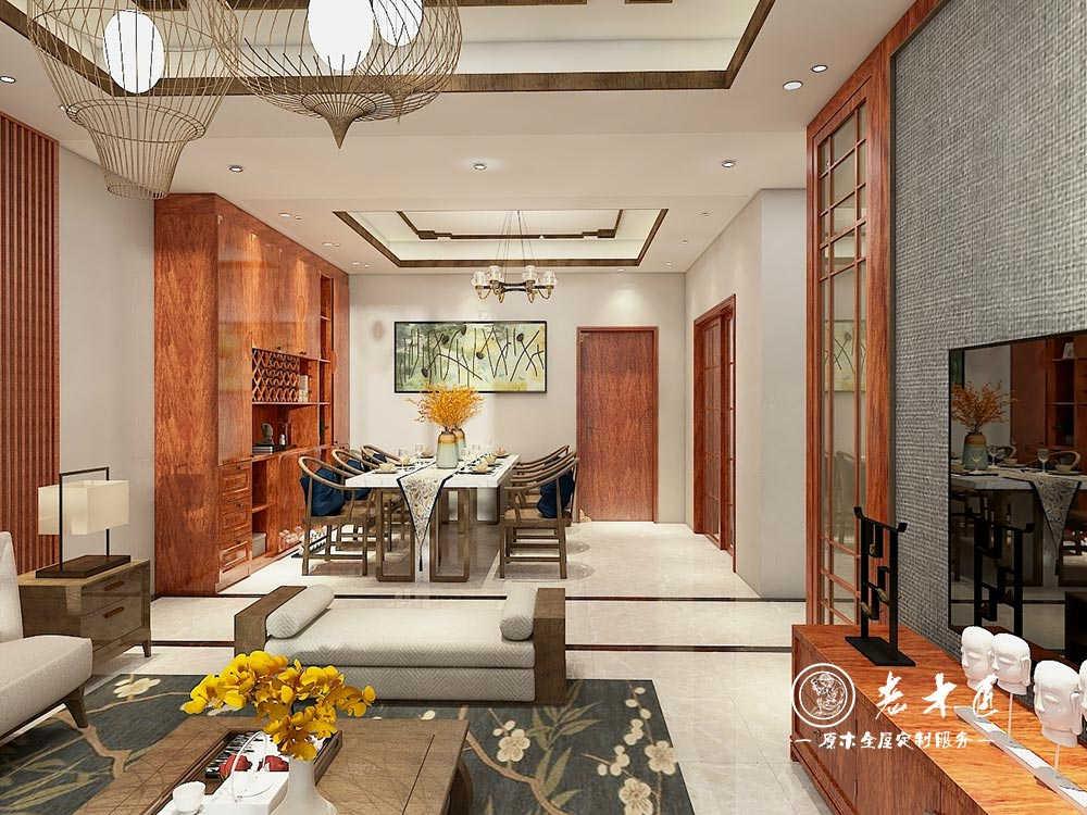 110㎡新中式原木全屋定制,穿越千年的典雅与高贵!