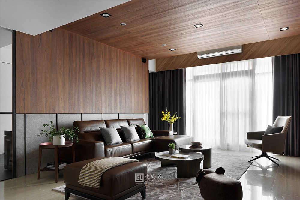 180㎡平层住宅原木轻奢家居,全家的颜值就靠这个轻奢风格!