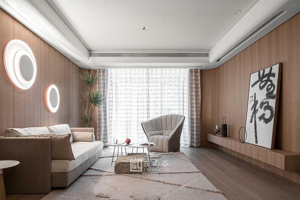 140㎡原木轻奢木饰面家居,打造简洁舒适自然的空间!