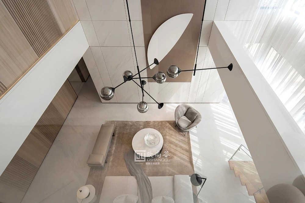 197㎡极简家居设计,木饰面材质回归生活的朴质!
