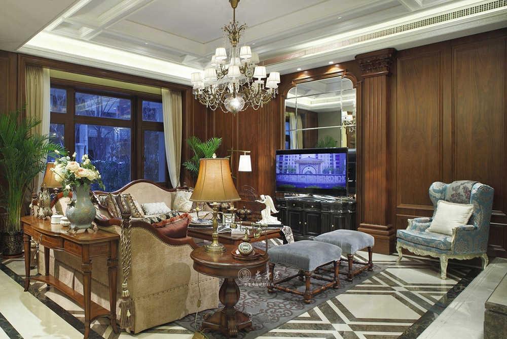 360㎡别墅美式实木全屋定制,打造大气的尊贵府邸!